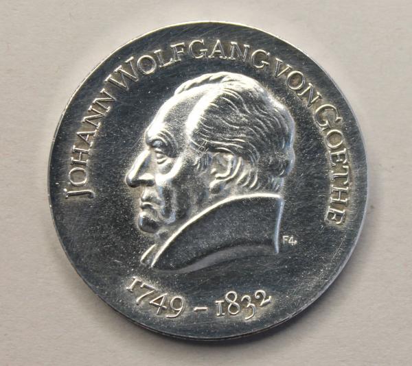 20-Mark-Stück zum 220. Geburtstag von Johann Wolfgang von Goethe