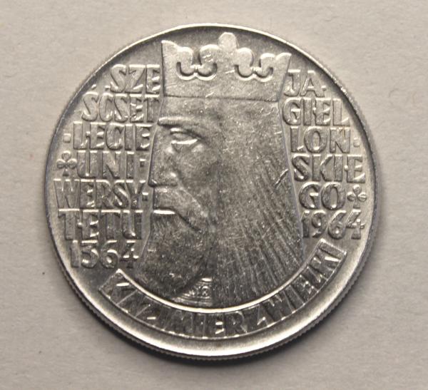 10-Zloty-Stück anlässlich der 600-Jahrfeier der Universität Krakau