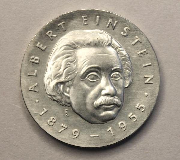5-Mark-Stück zum 100. Geburtstag Albert Einsteins