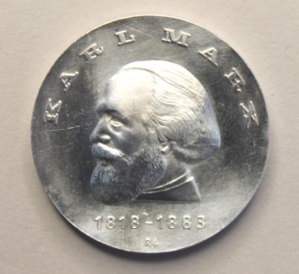 20-Mark-Stück zu Ehren von Karl Marx