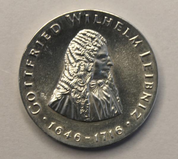 20-Mark-Stück zum 250. Todestag von Gottfried Wilhelm Leibniz