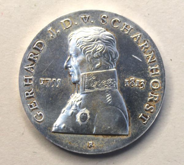 10-Mark-Stück anlässlich des 225. Geburtstages von Gerhard Johann David von Scharnhorst