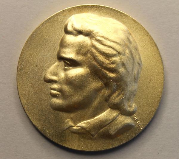 Friedrich-Schiller-Medaille anlässlich des 25. Jahrestages der Neueröffnung der Friedrich-Schiller-Universität