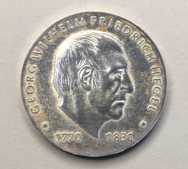 10-Mark-Stück zum 150. Todestag von Georg Wilhelm Friedrich Hegel