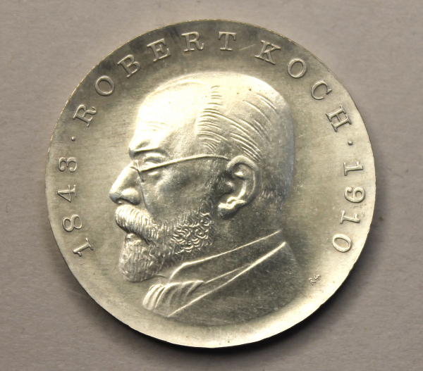 5-Mark-Stück zum 125. Geburtstag Robert Kochs