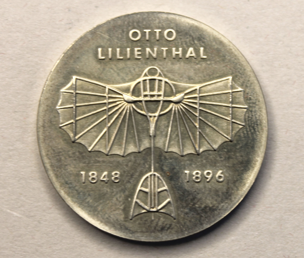 5-Mark-Stück zum 125. Geburtstag Otto Lilienthals