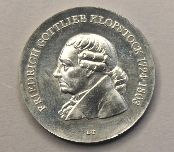 5-Mark-Stück zum 175. Todestag Friedrich Gottlieb Klopstocks