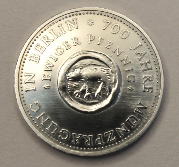 10-Mark-Stück anlässlich 700 Jahre Münzprägung in Berlin