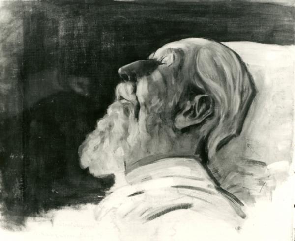 Porträt Ernst Haeckel (Totenbildnis)