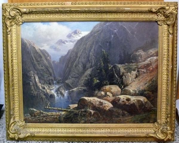 Tirol Parthie aus der Hölle im Pferschthal
