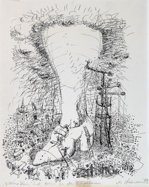 Gulliver bei den Liliputanern