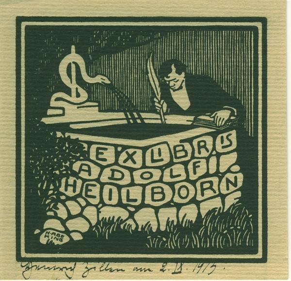 Abeking, Hermann - Exlibris Adolf Heilborn