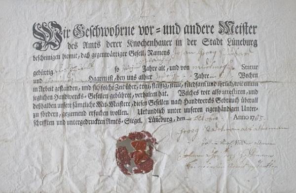 Bestätigung der Knochenbrecher von Lüneburg 16690#001