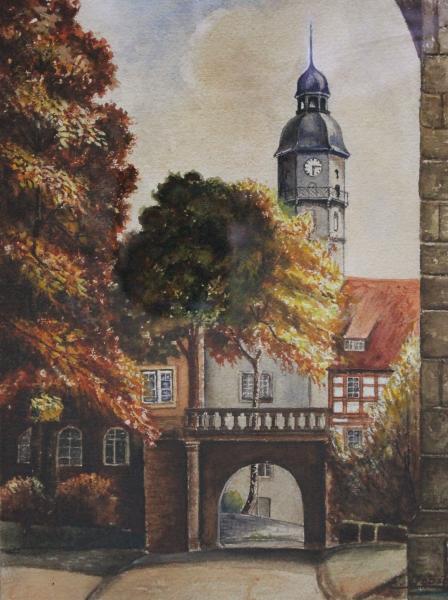 Ansicht Portal Bertholdsburg. 16698