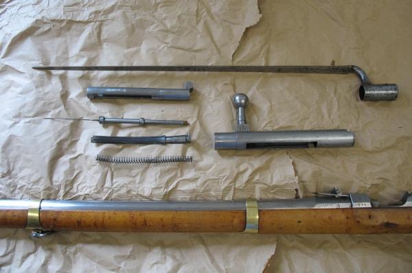 ZN-Gewehr M 1841 zerlegt