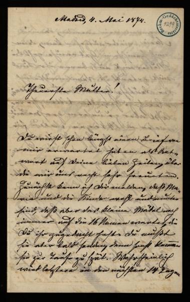 1299 - Brief - Seite 1