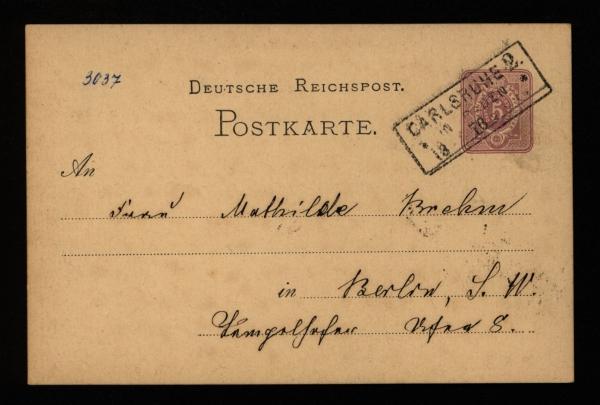 3037 - Postkarte - Vorderseite