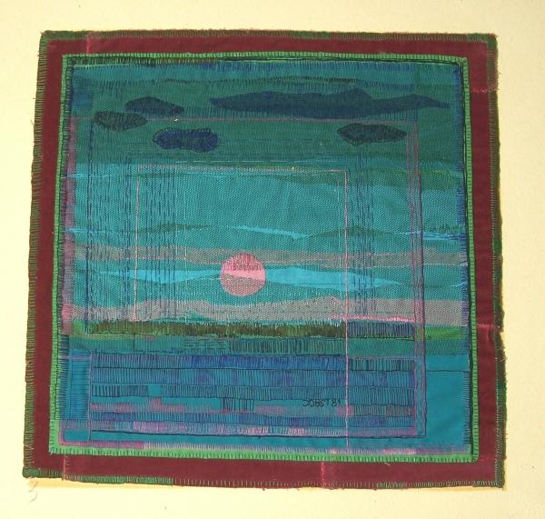 Textilarbeiten - Sonnenuntergang